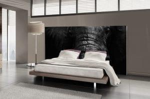décoration chambre moderne tête de lit tableau