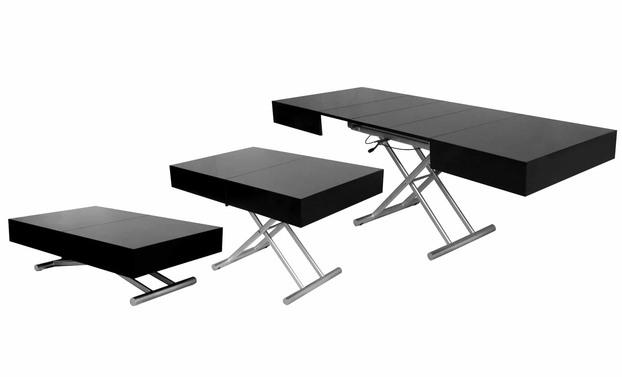 Table extensible et relevable for Table exterieur 140x140
