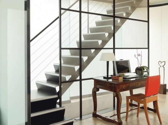 deco cage escalier interieur trendy cage d escalier idees deco pour un bel escalier montreuil. Black Bedroom Furniture Sets. Home Design Ideas