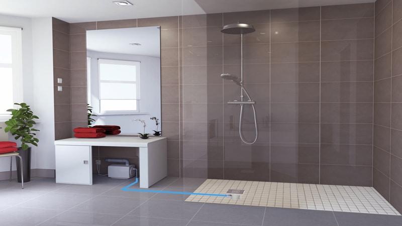 salle de bains une douche l italienne pour un espace. Black Bedroom Furniture Sets. Home Design Ideas