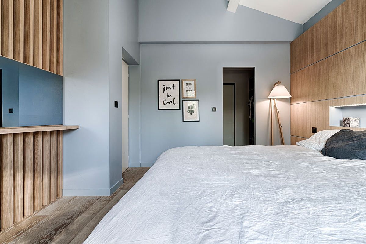 architecte d interieur design scandinave carqueiranne chambre tete de lit chene blog. Black Bedroom Furniture Sets. Home Design Ideas