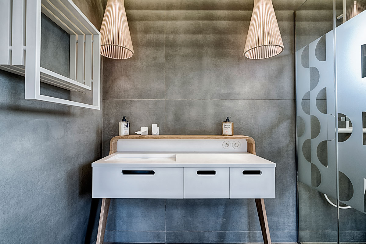 Une biblioth que au style scandinave blog decoration maison - Salle de bain vitaminee ...