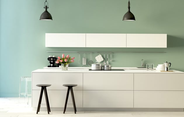 Donner des couleurs au mur de votre cuisine - Couleur mur bureau maison ...