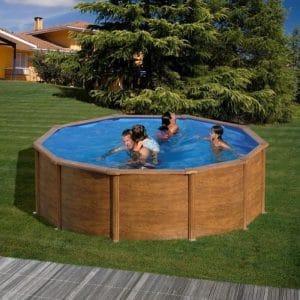 piscine autoportée bois