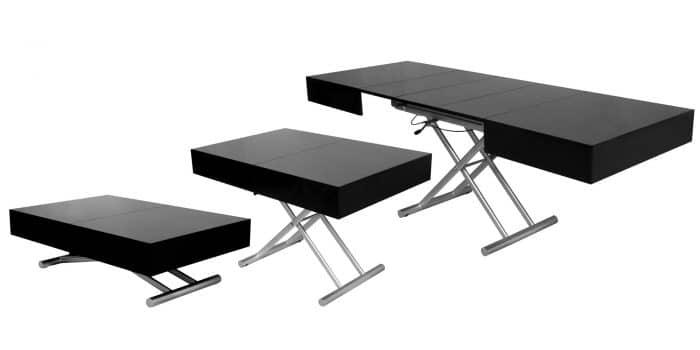 table relevable extensible noire