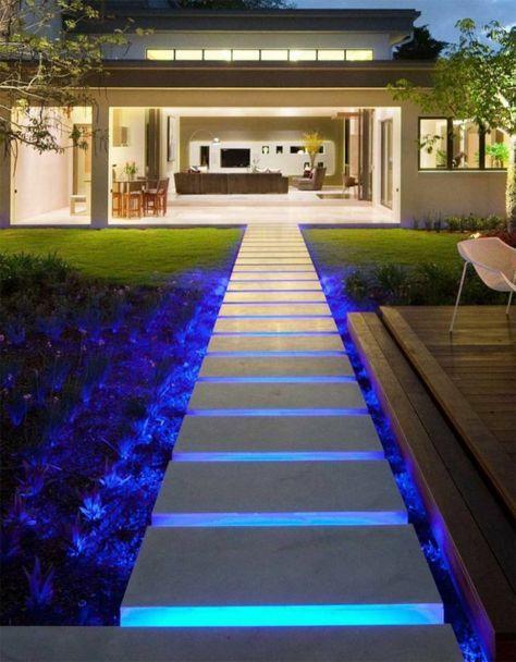 Eclairage led bleu