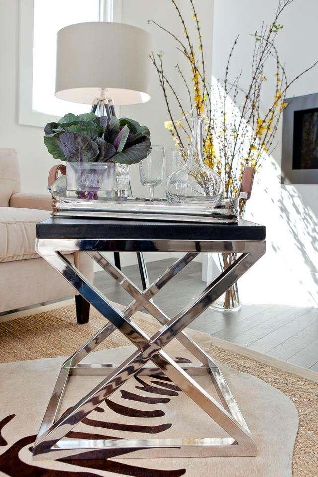 déco intérieur table basse métal