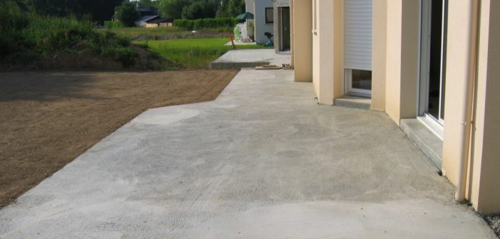 Terrasse beton exterieur