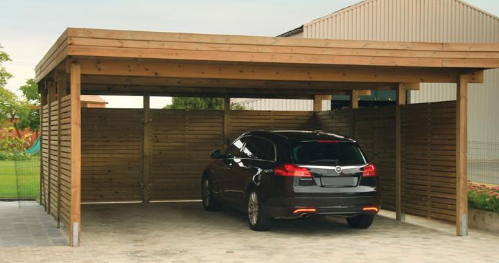 garage bois exterior living