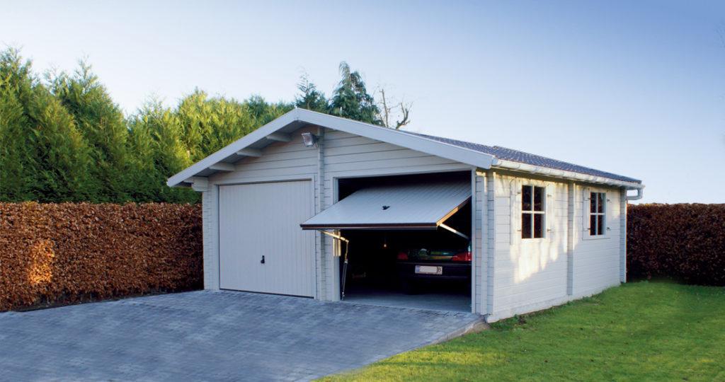 garage bois moderne