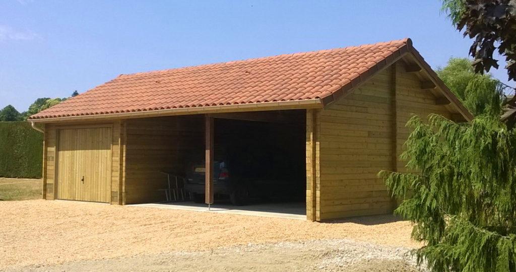garage bois traditionnel