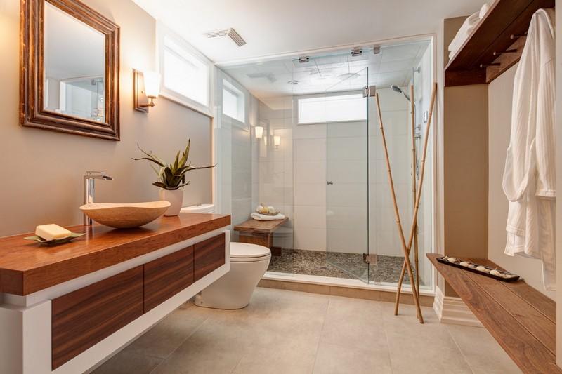 decoration-salle-bain-zen-meuble-vasque-bois-cabine-douche-parois-verre