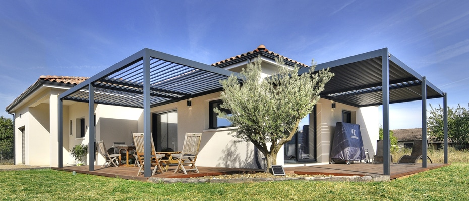 Pergola bioclimatique aluminium en kit_1