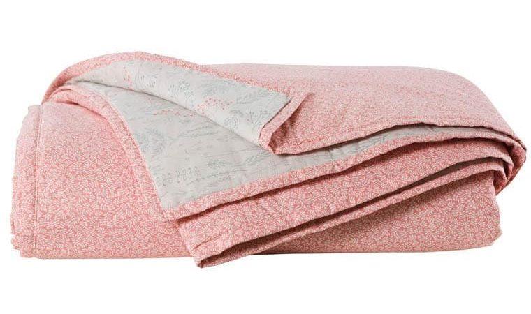 jeté de lit rose